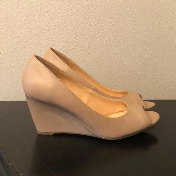 6d0f98d8505a Liz Claiborne Shoes - Liz Claiborne Paula peep toe wedges